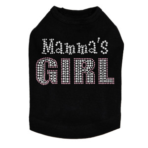 Mama's Girl rhinestone dog tank for large and small dogs.
