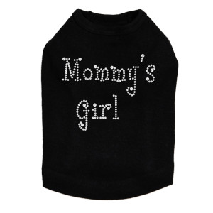 Mommy's Girl rhinestone dog tank for large and small dogs.