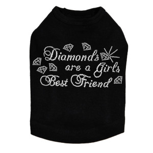 Diamonds are a Girls Best Friend #1 rhinestone dog tank for large and small dogs.