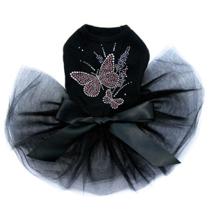 Pink Butterfly with Flowers Tutu