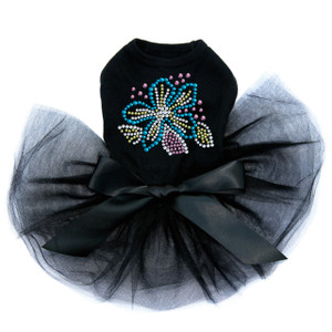 Turquoise Flower dog tutu for large and small dogs.