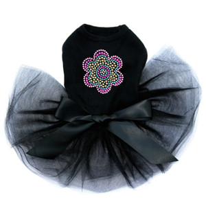 Multicolor Nailhead Flower dog tutu for large and small dogs.