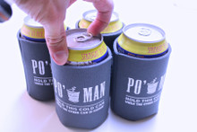 Po' Man Can Coolers: Hold the Cold Can While the Big One Cooks. (Set of 4)