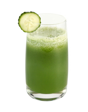 glass of greens drink