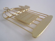 Bird Cage Magnetic Pin / Brooch / Badge