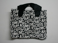 Black & White Letter Tote Bag / Handbag