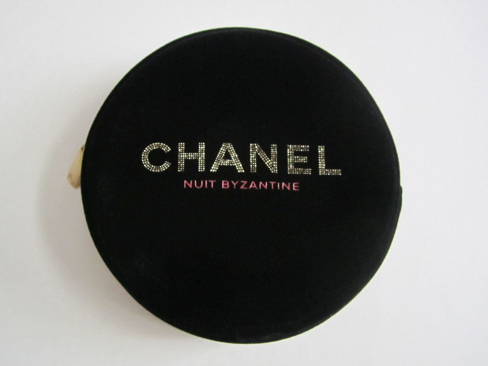 de394af15033a2 NUIT BYZANTINE Velvet Zipper Cosmetic Bag / Makeup Pouch - sweeeties.com
