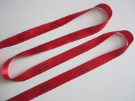 Chance Red Ribbon with Black Letters 3/4