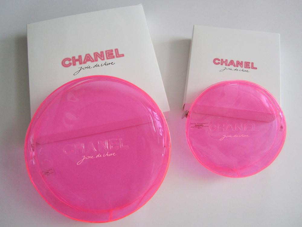 c9bcedbf0420 JOIE DE VIVRE Neon Pink Zipper Cosmetic Bag (2 Pieces Set ...