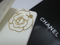 Camellia Metal Bookmark and Mini Notebook *GOLD*