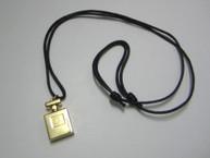 No.5 Perfume Bottle Pendant Necklace with Velvet Pouch