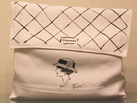 KARL LAGERFELD Sketch of Coco Chanel Dust Bag for 2.55 Flag Bag
