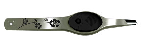 Black Floral Lighted Tweezers