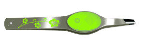 green floral lighted tweezers