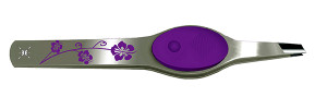 Purple Floral Lighted Tweezers