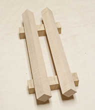 "Pool Cue Blanks Soft Maple curly flame 1 1/4"" x 1 1/4"" x 18""  Contact us for other sizes, flavors, and prices."
