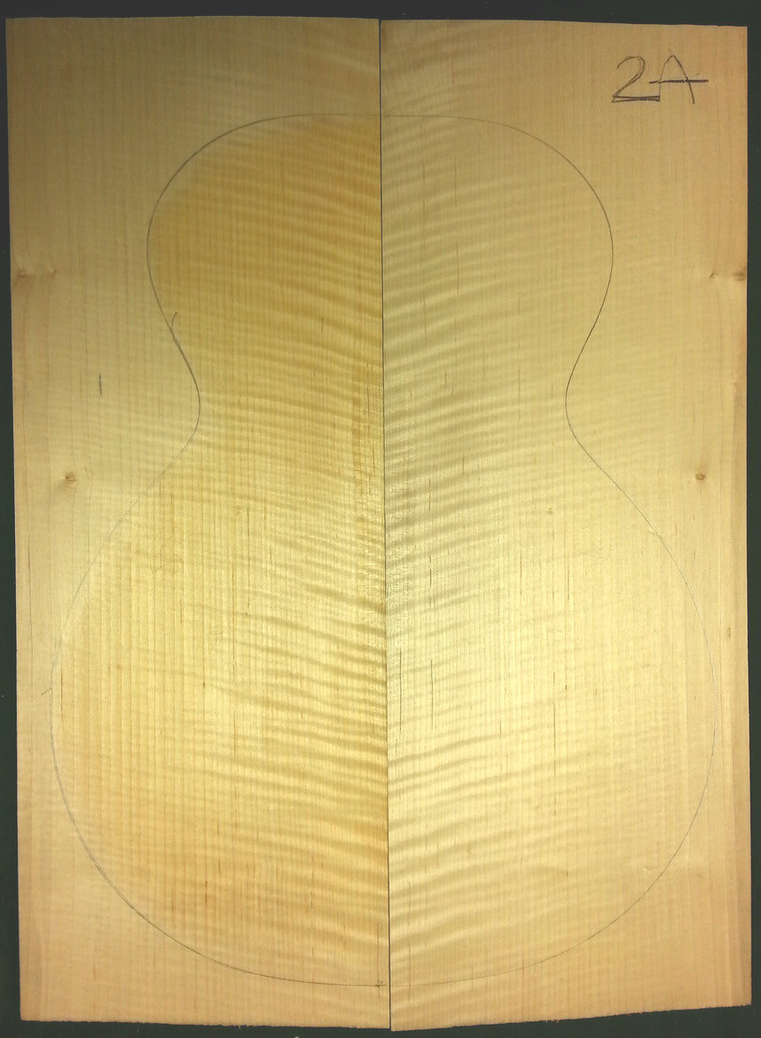 Carve Top, 2A Curly Flame, Guitar tonewood (CT2A100 1x8x20)