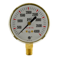 "Steel Replacement Regulator Gauge 2 1/2"" x 4000 PSI"