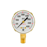 "Brass Replacement Regulator Gauge 2"" x 4000 PSI"