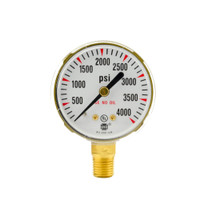 "Steel Replacement Regulator Gauge 2 "" x 4000 PSI"