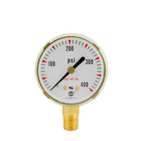 "Steel Replacement Regulator Gauge 2"" x 400 PSI"