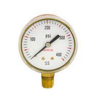 "Steel Replacement Regulator Gauge 2"" x 400 PSI Non UL"