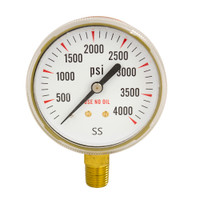 "Steel Replacement Regulator Gauge 2 1/2"" x 4000 PSI Non UL"
