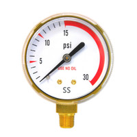 "Steel Replacement Regulator Gauge 2"" x 30 PSI Non UL (1435-0090RP)"
