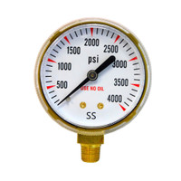 "Steel Replacement Regulator Gauge 2"" x 4,000 PSI Non UL (1435-0096RP / 1435-0097RP)"