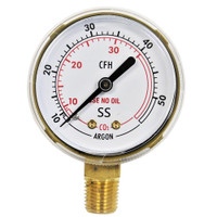 "Steel Replacement Regulator Gauge 2"" x 50 SCFH Non UL  (LM 1/4 NPT)"