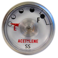 Acetylene Replacement Gauge 0386-1200  / 1424-0330 (Turbo Torch® Style)
