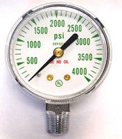"Replacement Medical Regulator Gauge 2"" x 4000 PSI LM"