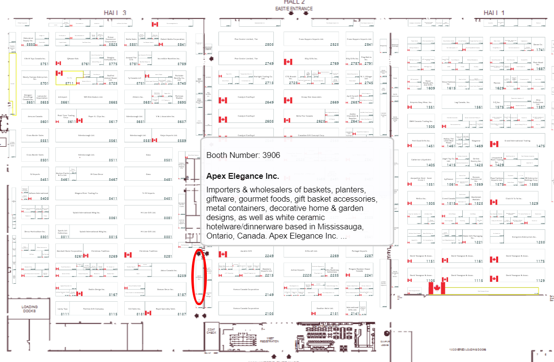 Apex Elegance Inc.,Toronto gift fair booth