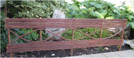 "Unpeeled willow fence 32""x13""H"