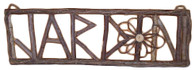 "Twig JARDIN Sign 26""x9""H (min 2)"