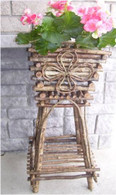 "PL528 - Twig 2-tier plant stand Top:12""x12""x29""OH (min 1)"