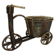 "Tricycle  planter for 4""D Pot -6.5""Dx5""Hx14""Lx10.5""OH (min 2)"