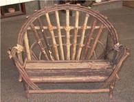 """PL585CH – Twig kiddie love seat  26""""x12""""x16""""Hx30""""OH (min 1)"""