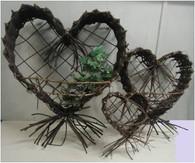 "Medium Wall hanging Heart/Shrimp basket 18"""
