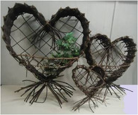 Large Wall hanging Heart/Shrimp basket 24""