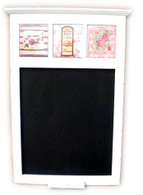 "Wooden Memo pad with Lavender ceramic tiles 15.5""x20""H"