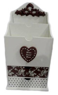 """CV203LT – Wooden letter holder with drawers 8.5""""x6.5""""x16""""H (min.1)"""