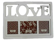 "CV205F – Wooden ""LOVE"" photo frame  17""x11""H (min. 2)"