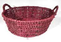 """Round seagrass basket w/handles 13""""Dx4.5""""Hx6""""OH"""
