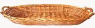 "CBW1063WX Oval tray w/wooden handles 32""x16""x6.5""H"