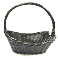 Large in S/4 Boat shaped willow baskets with handle