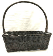 Large in s/4 Rectangular willow basket W/handle