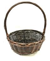 """Medium Round willow basket  M:14.5""""Dx5""""Hx17""""OH"""