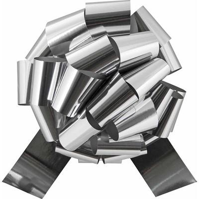 "5"" Metallic Pull Bows - 50 bows/case - Silver"