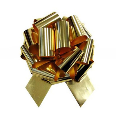 "5"" Metallic Pull Bows - 50 bows/case - Gold"